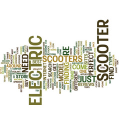Electric scooter find text background word cloud vector
