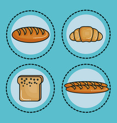 food with carbs design vector image vector image