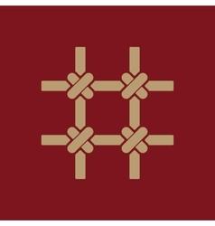 The prison bars icon Grid symbol Flat vector image