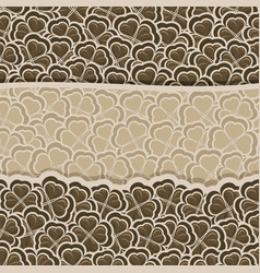 chocolate clover pattern vector image vector image