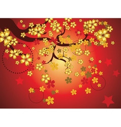 Decorative Sakura Background3 vector image vector image