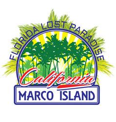 florida beach surf club concept summer surfing vector image vector image