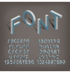 Isometric letters 3d vector image