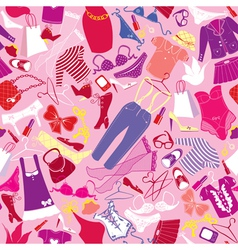 Seamless pattern for fashion Design - Silhouettes vector image vector image
