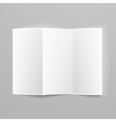 Blank trifold paper z-folded brochure vector image