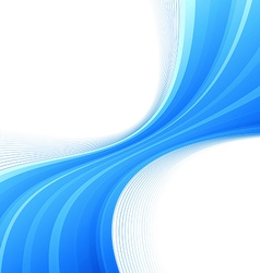 Blue swoosh lines border divided wave vector image vector image