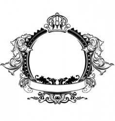 decorative crown vector image vector image