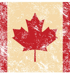 Canada retro flag vector image