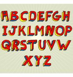 grunge 3d alphabet vector image vector image