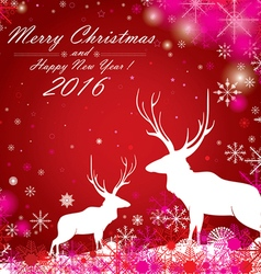 Merry Christmas and Happy New Year The white vector image