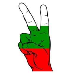 Peace Sign of the Bulgarian flag vector image vector image