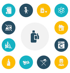 set of 13 editable hygiene icons includes symbols vector image vector image