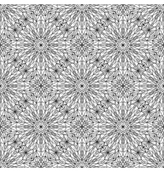 Sophisticated Black and White Lines Pattern vector image vector image