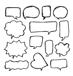 Speech or thought bubbles set Cartoon doodle vector image vector image