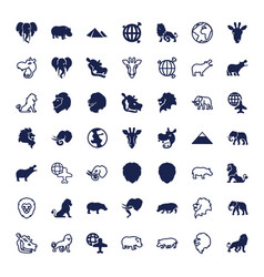 49 africa icons vector