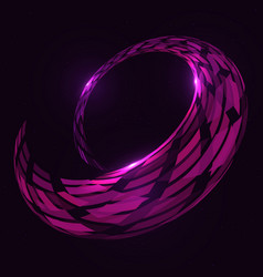 abstract 3d spiral torus shape vector image