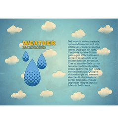 Aged vintage card with rain drops vector image