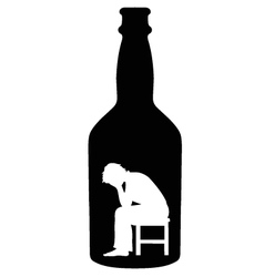 alcoholism vector image