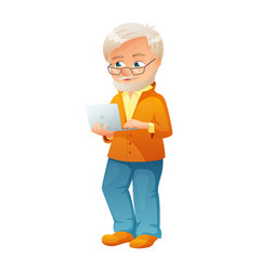 an old active man with vector image vector image