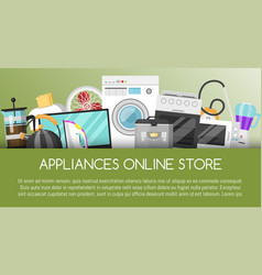 appliances online store banner vector image