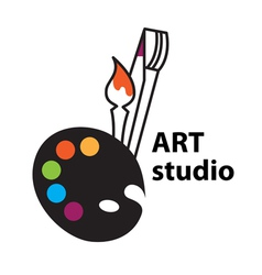 art studio vector image