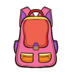 backpack with school supplies school bag vector image