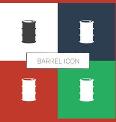 Barrel icon white background vector