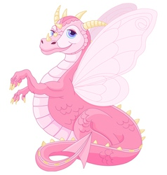 Beautiful Magic Dragon vector image