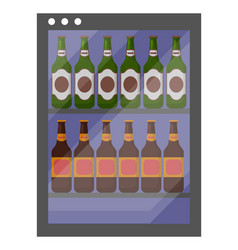 beer in fridge drink in cold container vector image