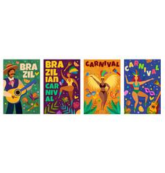 brazilian carnival banner with masquerade latino vector image