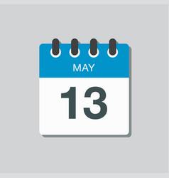 calendar day 13 may days year vector image