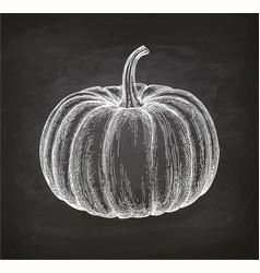Chalk sketch pumpkin vector