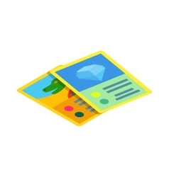 Children game cards icon isometric 3d style vector image vector image