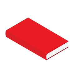 closed red book isometric view isolated on white vector image