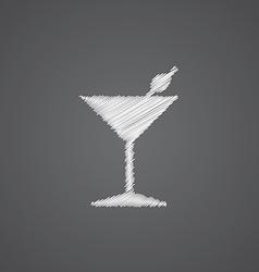 Cocktail sketch logo doodle icon vector