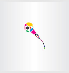 colorful microphone logo icon vector image