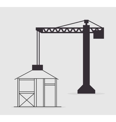 crane construction tower vector image