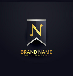 create letter n logo design template vector image