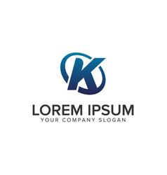 creative modern letter k logo design concept vector image