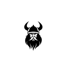 creative viking head logo vector image