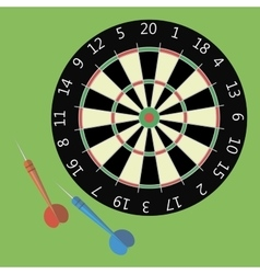 dartboard in flat style vector image