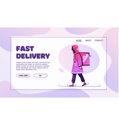 delivery guy character design cartoon vector image