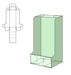 Diecut Craft Box vector image