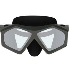 diving mask vector image