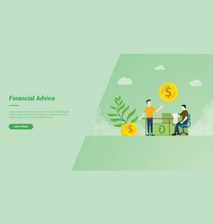 Financial advice campaign concept for website vector