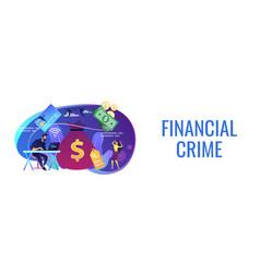 Financial crimes concept banner header vector