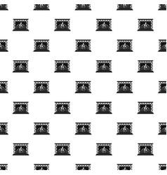 Fireplace pattern seamless vector