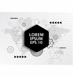 geometric wallpaper hexagon logo pattern vector image