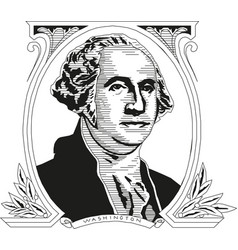 George washington first president the vector