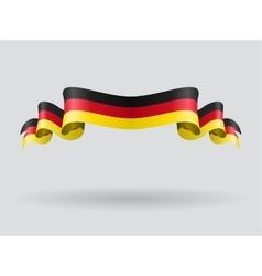 German wavy flag vector